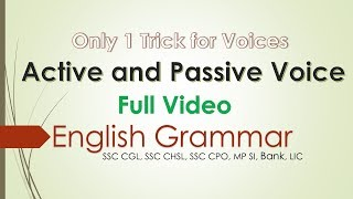 Active and Passive Voice -Tutorial [Hindi] | SSC CGL | SSC CHSL | BANKING | RAILWAY |