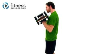 Quick Arm And Shoulder Workout - At Home Upper Body Workout with Dumbbells by FitnessBlender