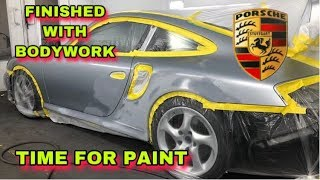 REPAIRING REBUILDING 911 996 PORSCHE TURBO QUARTER  PANEL MINOR DAMAGE (PART 2)