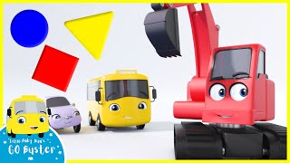 Buster Teaches Shapes | Go Buster | Baby Cartoons | Kids Videos | ABCs and 123s