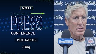 Head Coach Pete Carroll Week 1 Friday Press Conference | 2019 Seattle Seahawks