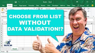 Excel Pick From Dropdown List - 2327