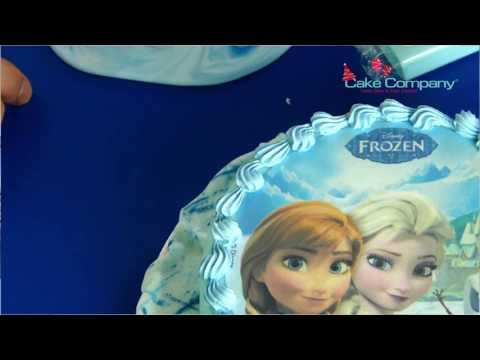 Essbarer Tortenaufleger Zuckeraufleger Frozen 16cm   Eislandschaft zaubern