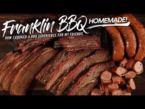 I cooked a FRANKLIN BBQ EXPERIMENT for my friends!