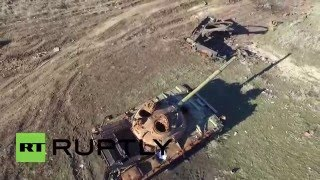 Ukraine: Drone captures destruction of