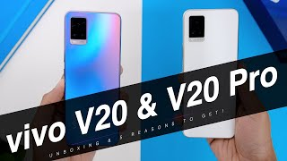 Vivo V20 and Vivo V20 Pro Unboxing And 5 Reasons Why You SHOULD Get it!