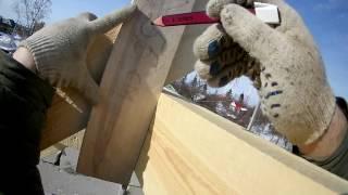 Установка стропильных ног - пошаговый процесс