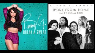 Break a Sweat from Home - Becky G & Fifth Harmony (Mashup)