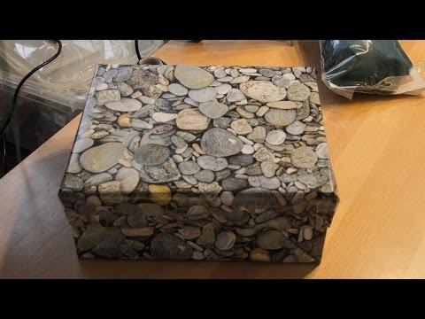 DIY, Geschenkkarton selbst gemacht, Schuhschachtel + Geschenkpapier