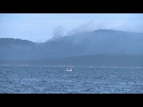 Συνεχίζεται η κατάσβεση της φωτιάς που καίει στο Άγιον Όρος