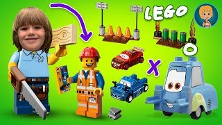 Lego Cars Lightning McQueen from Cars 3 - тачки 3 машинки (Gertit ToysReview)