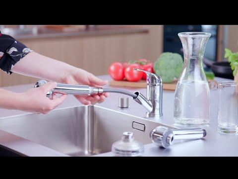 DrinkPure Clear mit Küchenbrause - Brause für KWC-kompatible Schläuche