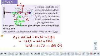 Eğitim Vadisi 11.Sınıf Fizik 13.Föy Tork 2 (Bileşke Tork) Konu Anlatım Videoları