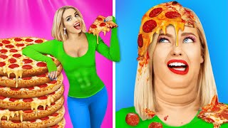 100 LAYERS FOOD CHALLENGE! Can You Eat 100+ Coats of Pizza and Hot Dogs? 100 Layers by RATATA BOOM