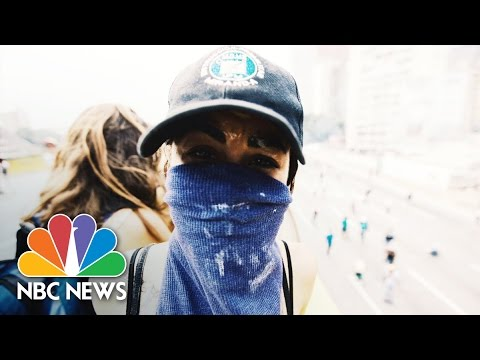 Photographer Gives 'Window' To Chaos In Venezuela Amid Protests, Confusion | NBC News