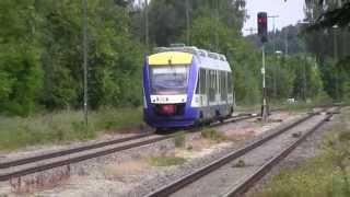 preview picture of video 'Schrobenhausen Zugkreuzung Bayerische Regiobahn 01.06.2014'