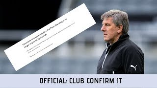 Official: Peter Beardsley departs Newcastle United