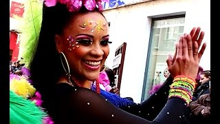 preview picture of video 'La Colombie - Limoux - Carnaval 2015 - Desfile da Colombia'