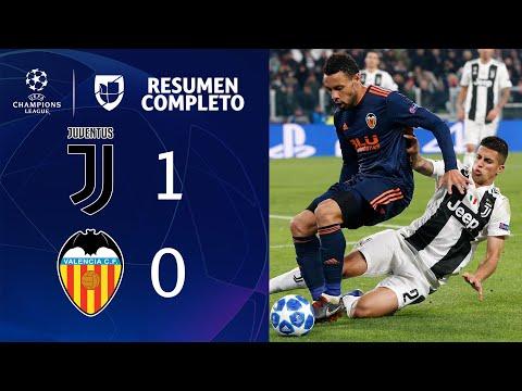 Juventus 1-0 Valencia - GOL Y RESUMEN - Grupo H - UEFA Champions League