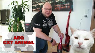 AEG CX7 Animal Test Review Akkusauger 2in1 Gerät mit Tierhaarbürste AEG Ergorapido CX7-2-45AN
