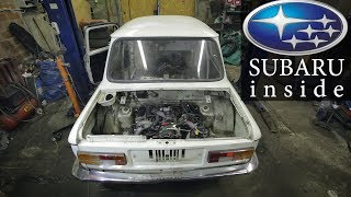 Мотор от SUBARU в ЗАЗ 968М // SUBAрожец
