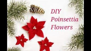 DIY Poinsettia Flower Using Felt     DIY Christmas Decorations    12 DIYs Of Christmas