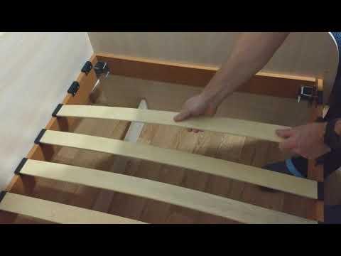 Как установить ламели на каркас кровати