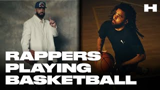 RAPPERS PLAYING BASKETBALL 2020! WHO IS THE BEST? (Quavo, J. Cole, Drake, Chance, and more!)