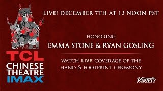 Ryan Gosling & Emma Stone  Hands & Feet Ceremony  TCL Chinese Theater
