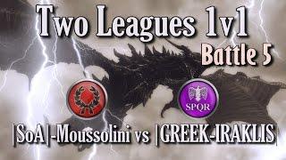 Two Leagues Finals Battle 5 |SoA|-Moussolini vs |GREEK-IRAKLIS|, Rome Total War