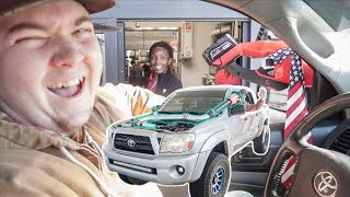 We Supercharged his Tacoma with a LEAF BLOWER!!