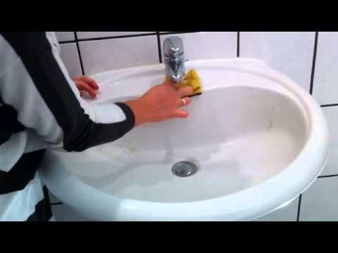 Tutorial: Waschbecken putzen/ Badgarnitur putzen/ Armaturen reinigen/ Wachbecken reinigen