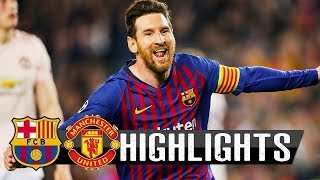 Barcelona Vs Manchester United 3-0 - All Goals & Highlights - 16/04/2019 HD - From Stands