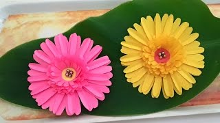 Paper flower diy party flowers decor home decor kids project diy paper crafts how to make beautiful daisy paper flowers tutorial for home decoration mightylinksfo