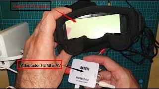 Conectar gafas FPV Eachine al PC para utilizar en los simuladores