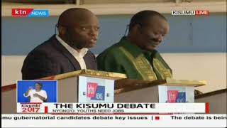 Mr David Wayiera: My manifesto is big on investment and agriculture,' The Kisumu debate