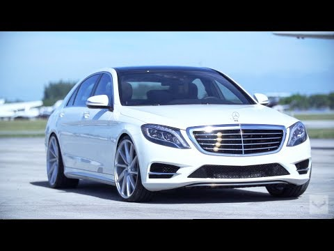 "2014 Mercedes-Benz S550 on 22"" Vossen CVT 