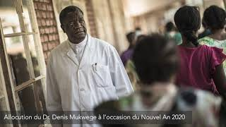 Message du Docteur Mukwege à l'occasion du nouvel an 2020