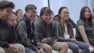 ASIMO encouraging students at Honda Silicon Valley lab to enhance their interest