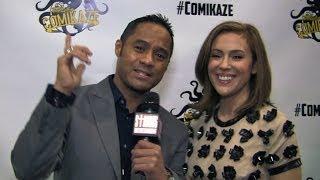 Alyssa Milano and Tyrone Tann- Comikaze Expo 2013