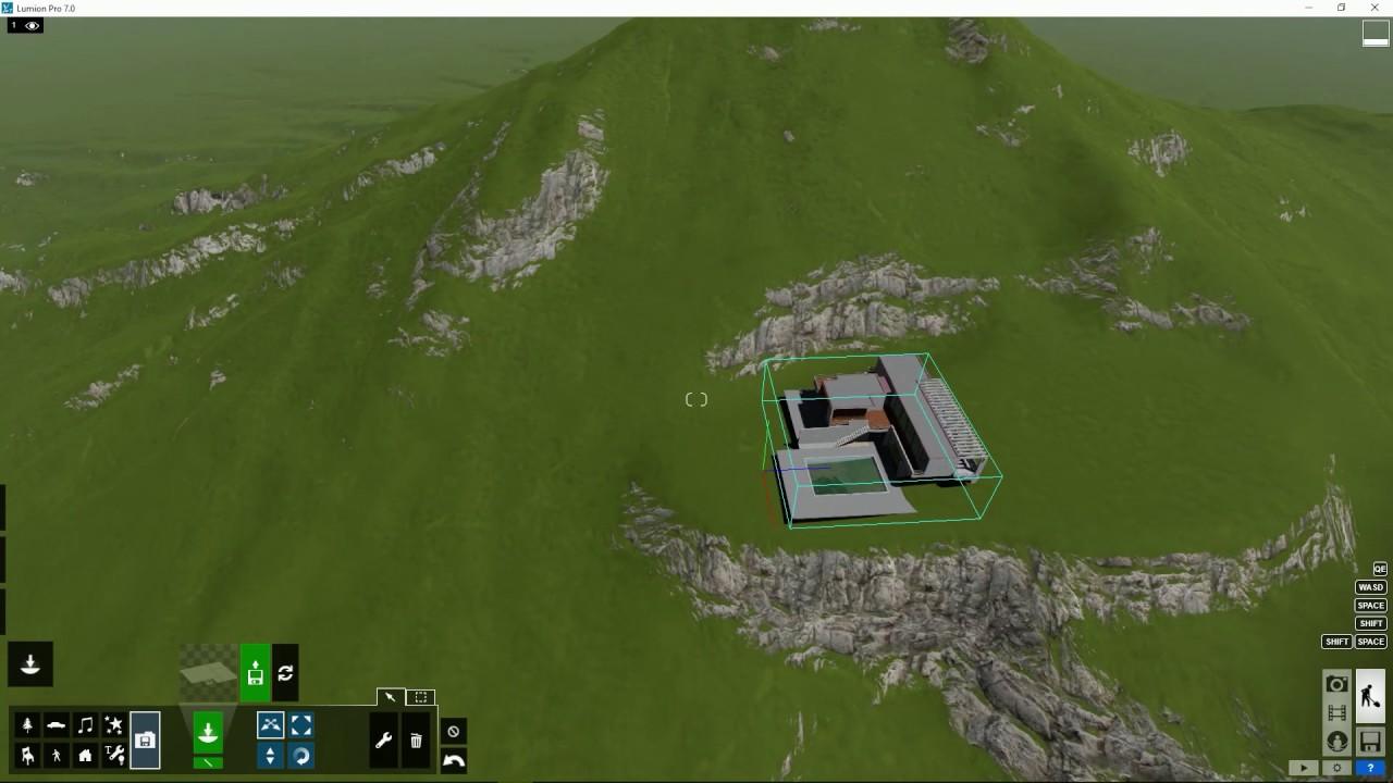 編集モード:ハイトマップを保存(Lumion7 series)