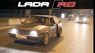 LADA 2108 with V8 AUDI engine // FIRST RIDE