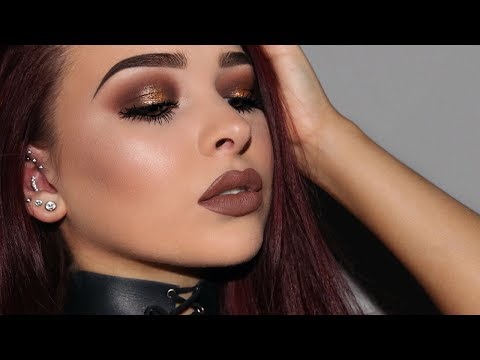 Smokey Gold Halo Eye Makeup Tutorial