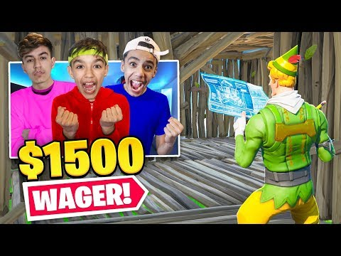 Intense $1,500 Fortnite Box Fight Wager Against Brothers! (видео)
