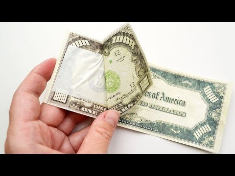 If You're Afraid To Use DOUBLE SIDED TAPE, This Video Is For You! DIY Dollar Bills