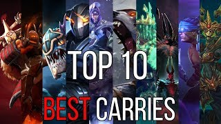 Top 10 best carries of patch 7.20e (dota 2 guide)