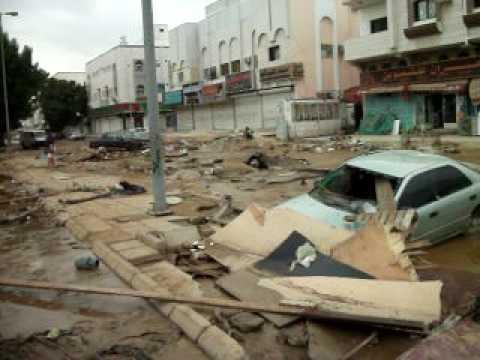 كارثة أمطار سيول حي العدل