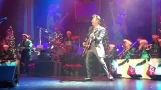 Brian Setzer live Rockin Around The Christmas Tree at the Genesee Theater Christmas Rocks Tour 2015