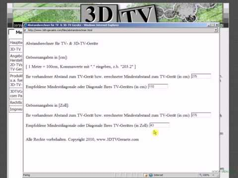 3D Fernseher, 3D-TV erklärt: Viele gute Infos und Angebote hier:  www.3DTVGeraete.com