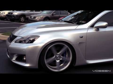 "Lexus IS-F on 20"" Vossen VVS-CV3 Concave Wheels / Rims"